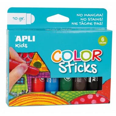 Apli Kids, Farby w kredce - 6 kolorów