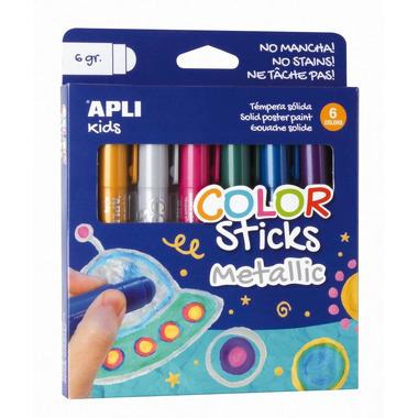 Apli Kids, Farby w kredce metaliczne - 6 kolorów