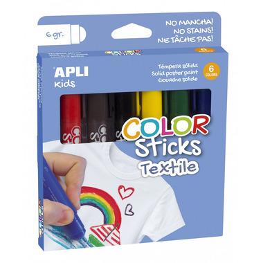 Apli Kids, Flamastry do tkanin - 6 kolorów