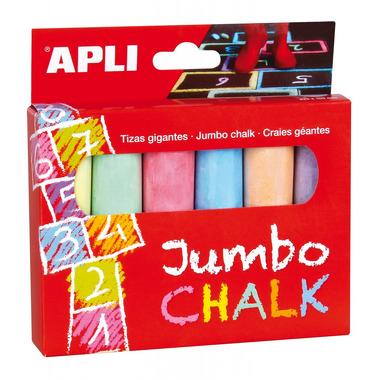 Apli Kids, Kredy Jumbo - 6 kolorów