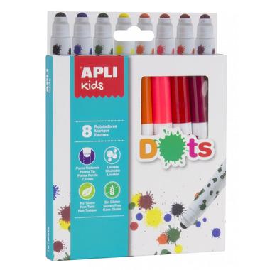 Apli Kids, Kropkowe flamastry - 8 kolorów