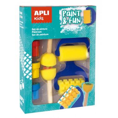 Apli Kids, Zestaw stempelków i wałków z farbkami