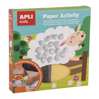 Apli Kids, Zestaw artystyczny z bibułą - Farma