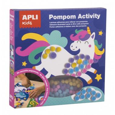 Apli Kids, Zestaw artystyczny z pomponami - Księżniczka
