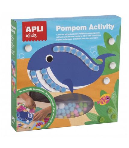 Apli Kids, Zestaw artystyczny z pomponami - Morze