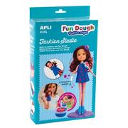 Apli Kids, Zestaw do stylizacji z lalką i masą plastyczną - Brunetka