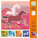 Szablon do rysowania - Konie