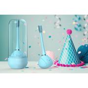 InnoGio, Soniczna elektryczna szczoteczka do zębów dla dzieci z funkcją 360° - niebieska