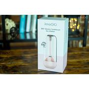 InnoGio, Soniczna elektryczna szczoteczka do zębów dla dzieci z funkcją 360° - różowa