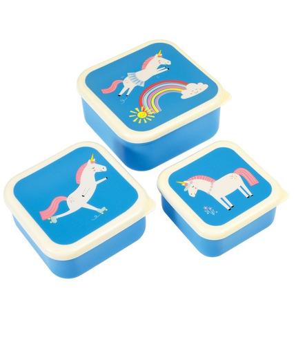 Rex, Komplet trzech pudełek na przekąski magiczny jednorożec