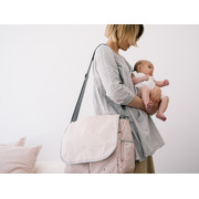 My Bag's, Torba do wózka Flap Bag Leaf Pink