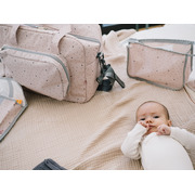 My Bag's, Torba Maternity Bag Leaf Pink