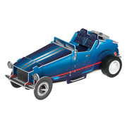 Vintage niebieski, nakręcany samochód wyścigowy