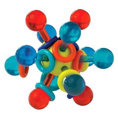 Manhattan Toy, Gryzak dla dzieci transparentny Atom