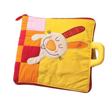 Lilliputiens, Duża książeczka wielofunkcyjna z mini-przytulanką Śpij dobrze, króliczku 18 m+
