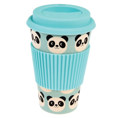 Rex, Bambusowy kubek podróżny 400 ml, panda Miko
