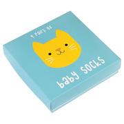 Rex, 4 pary skarpetek dla niemowląt kotki