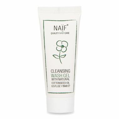 Naif, Oczyszczający żel do mycia dla niemowląt 100% naturalny MINI, 15 ml