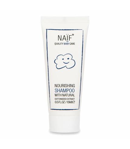 Naif, Odżywczy szampon dla niemowląt 100% naturalny MINI, 15 ml