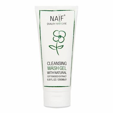 Naif, Oczyszczający żel do mycia dla niemowląt 100% naturalny, 200 ml