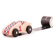 Kipod, Sticar Drewniane auta z naklejkami