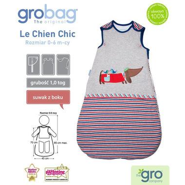 Śpiworek Grobag Le Chien Chic - grubość 1,0 tog 0-6 m