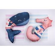 Baby Bites, Poduszka do karmienia Sea Horse 100 x 55 cm Pink