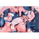 Baby Bites, Poduszka do karmienia Whale 100 x 55 cm Navy Blue