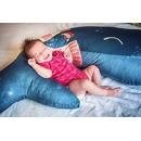 Baby Bites, Poduszka do karmienia Whale 55 x 35 cm Navy Blue