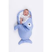 Baby Bites, Śpiworek letni Shark (1-18 miesięcy) Light Blue