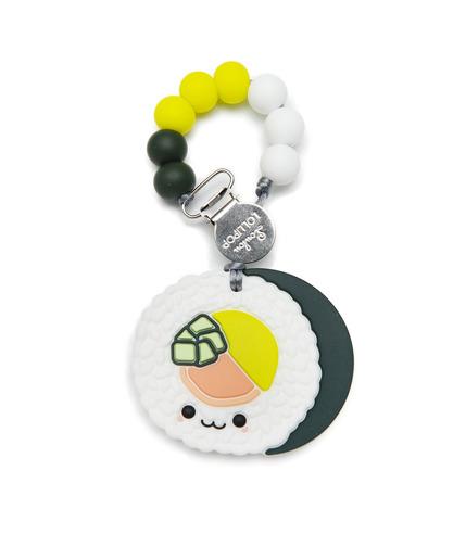 LouLou Lollipop, gryzak silikonowy z zawieszką Sushi Roll