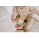 LouLou Lollipop, gryzak silikonowy z zawieszką Pastel Rainbow