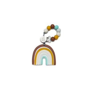 LouLou Lollipop, gryzak silikonowy z zawieszką Neutral Rainbow