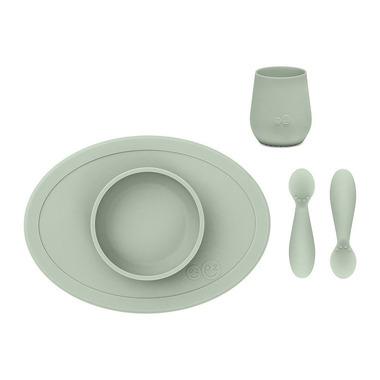 EZPZ, Komplet pierwszych naczyń silikonowych First Foods Set pastelowa zieleń