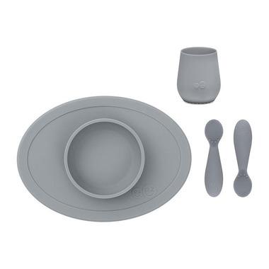EZPZ, Komplet pierwszych naczyń silikonowych First Foods Set szary