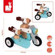 Janod, Drewniany motocykl z bocznym wózkiem w stylu retro Spirit Philip