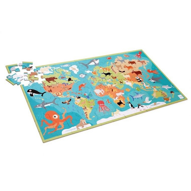 Scratch, Puzzle Mapa Świata i Zwierzęta