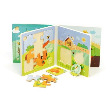 Wooden Księżeczka Puzzle Farma