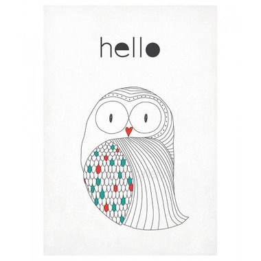 Plakat A3 Sowa Hello