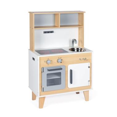Janod, Duża kuchnia drewniana z naklejkami do indywidualnego ozdabiania My Style