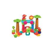Klocki jeżyki - zestaw dżungla - 58 elementów