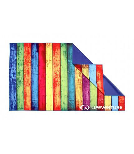 LittleLife, Ręcznik szybkoschnący Soft Fibre Lifeventure - Striped Planks 150x90 cm