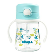 Beaba, Butelka-bidon tritanowa ze słomką 240 ml Light blue