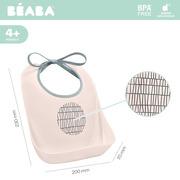 Beaba, Śliniak treningowy z kieszonką Pink Grid
