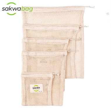 Sakwabag, Worki na zakupy zero waste, zestaw duży, 5 sztuk
