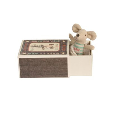 Maileg, myszka dzidziuś - chłopczyk w pudełku