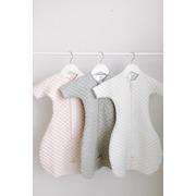 Aden & Anais, bawełniany śpiworek z rękawkami snug fit kremowo – różowy TOG 1.5, 6-9m
