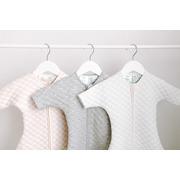 Aden & Anais, bawełniany śpiworek z rękawkami snug fit kremowo – różowy TOG 1.5, 0-3m