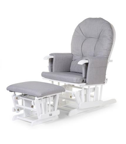 Childhome, Fotel pływający zaokrąglony z podnóżkiem White/Grey