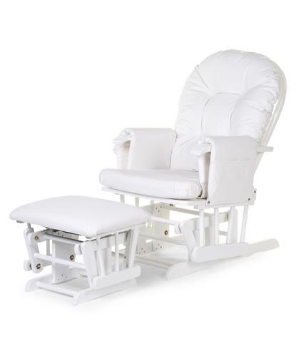 Childhome, Fotel pływający zaokrąglony z podnóżkiem White
